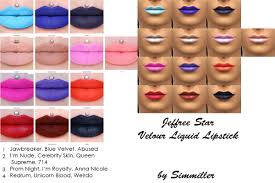 13 velour liquid lipsticks for males