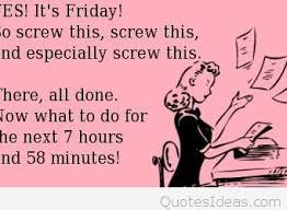 funny happy friday message card