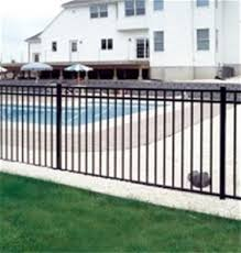 Jerith 3 Rail Aluminum Fence Section Style 22 Liberty Black
