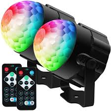 Amazon Com Baisun Disco Ball Party Lights Rgb Disco Lights Ocean Light Projector With Remote Control Strobe Light For Dance Parties Birthday Dj Wedding Show Kids Room 2 Pack Musical Instruments