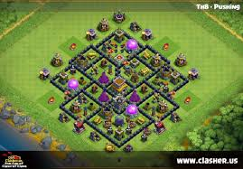 Town Hall 8 - TROPHY Base Map #3 ...