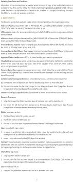 terms and conditions american express