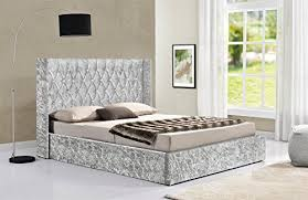 wing back bed frame double or king size
