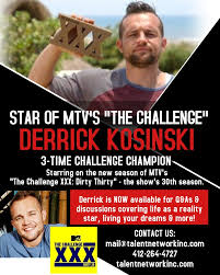 MTV's The Challenge Derrick Kosinski | Motivational Speaking