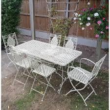 6 seater metal garden furniture set