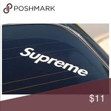 Supreme Logo Vinyl Decal Stickers Set 2 Decals Set Of 2 Supreme Box Logo Decals Made From Oracal 651 Premium Vin Supreme Accessories Sticker Set Supreme Logo
