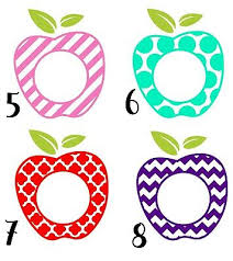 Teacher Apple Decal With Last Name Or Initials Monogram For Gift Tumbler Car 2 86 Picclick Uk