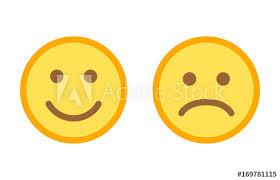 happy and sad emoji smiley faces flat