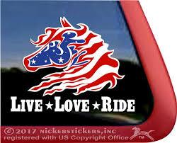 Usa Flag Wild Horse Decals Stickers Nickerstickers