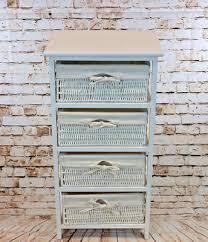 wicker basket drawer storage unit bed