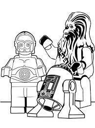 Kids N Fun Kleurplaat Lego Star Wars Chewbacca R2d2 C2po
