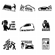 Free Shipping Biker Inside Car Stickers Funny Decal Auto Window Body Waterproof Removable Decor Car Styling Cars Accessories Buy At The Price Of 0 69 In Aliexpress Com Imall Com