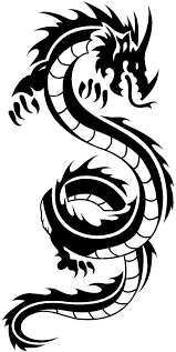 Amazon Com Newclew Japanese Chinese Tribal Dragon Flying Black Or White Sticker Decal Notebook Car Laptop Art Bumper Sticker Decal Automotive