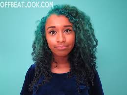 how i d my hair teal to blue ombre