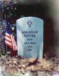 Revolutionary War Soldier, Abraham Abram Potter 1745 NC