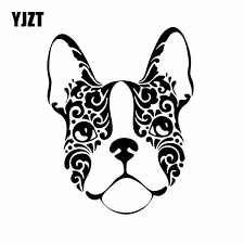 Yjzt 13 1x16 7cm French Bulldog Sugar Skull Frenchie Dog Vinyl Decal Car Stickers Black Silver C24 1591 Car Stickers Aliexpress