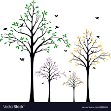 Tree Wall Decal Royalty Free Vector Image Vectorstock