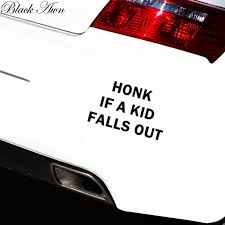 Honk If Kids Fall Out Funny Sticker Racing Jdm Funny Family Car Mom Window Decal D007 Car Stickers Aliexpress
