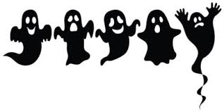 Small Ghost Halloween Sticker Set 5 Pack Vinyl Decals Silhouettes A Higher Class Co