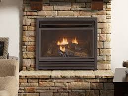 natural gas with a fireplace insert