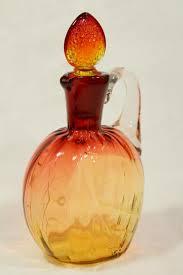 vintage amberina glass cruet bottle