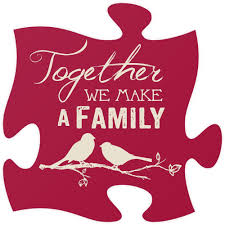 quote puzzle piece inscribed together we make a family