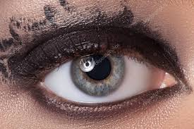 black eye makeup stock photo