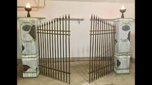 How To Build Halloween Cemetery Entrance Pillars Gate 10 Steps With Pictures Instructables