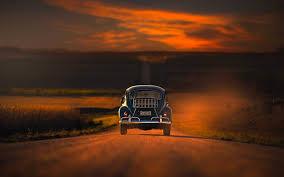 تحميل خلفيات السفر المفاهيم الحرية السيارة الطريق غروب الشمس