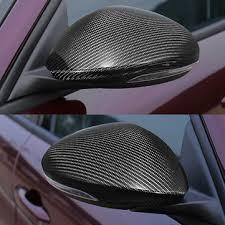 pair carbon fiber side mirror cover cap