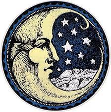 Amazon Com Happylife Productions Crescent Moon Window Sticker Decal 4 5 Circular Automotive