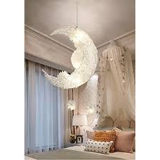 Moon Pendant Light Lamp Fixture Aluminum Chandeliers For Children Room