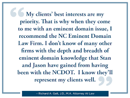 why eminent experience matters nc eminent law firm