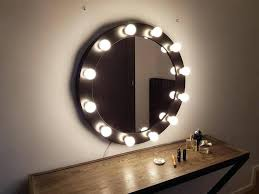image 0 mirror with lights side vanity