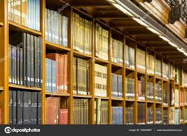 ancient bookshelf background stock
