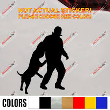 K9 K 9 Police Dog German Shepherd Training Decal Sticker Car Vinyl Die Cut No Background Pick Color And Size Car Stickers Aliexpress