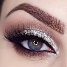 silver glitter wedding makeup look