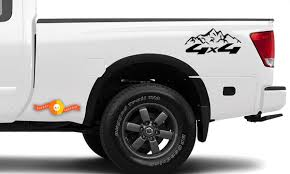 Product 4x4 Off Road Mountain Vinyl Decals Fits To Nissan Toyota Chevy Gmc Dodge Ford