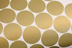 Gold Wall Decal Dots 200 Decals Easy To Peel Easy To Stick Safe Zingydecor