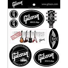 Gibson Logo Vinyl Stickers Set Of 12 Musician S Friend