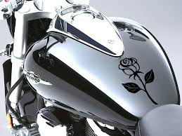 Rose Motorbike Fuel Tank Sticker Car Dec Buy Online In Malta At Desertcart