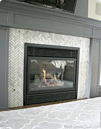 cleaning gas fireplace glass tile