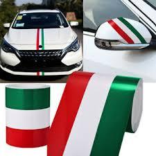 1mx15cm Car Pvc Body Sticker Italy Flag Stripes Decal Sticker Green White Red Ebay