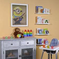 Wallniture Nursery Shelf Wall Floating Bookshelf Kids Room Storage Set Of 4 White