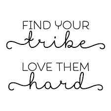 find your tribe wall quotes decal com