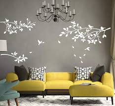 Amazon Com Aliqing Family Tree Branches Wall Decal With Birds Removable Vinly Wall Stickers For Home Decor White Arts Crafts Sewing