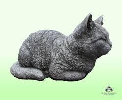 sleeping cat stone ornament garden
