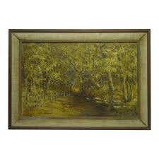 Wood Lined Fence Painting On Canvas Chairish