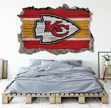 Kansas City Chiefs Wall Art Decal 3d Smashed Football Kids Wall Decor Wl164 Ebay