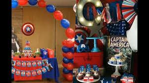 Ideas Para Fiesta Tematica Del Capitan America Youtube